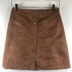 Melrose and Market Faux Suede Skirt Sz 2
